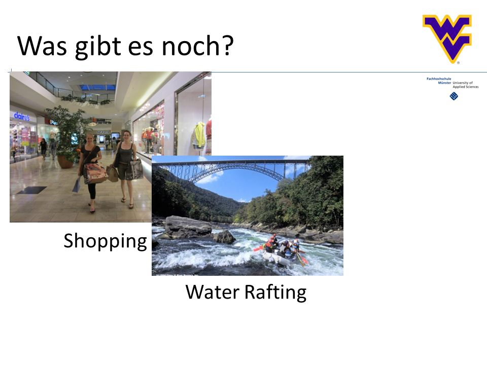 Was gibt es noch Shopping Water Rafting