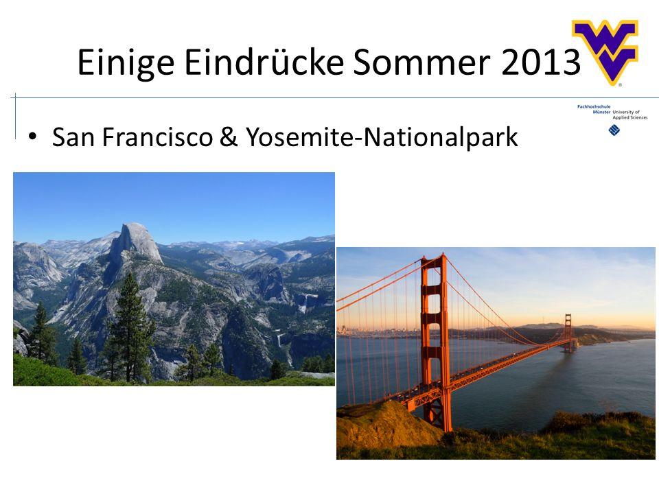 Einige Eindrücke Sommer 2013 San Francisco & Yosemite-Nationalpark