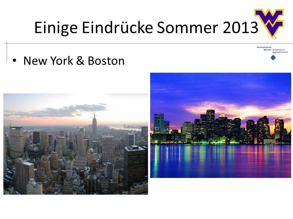 Einige Eindrücke Sommer 2013 New York & Boston