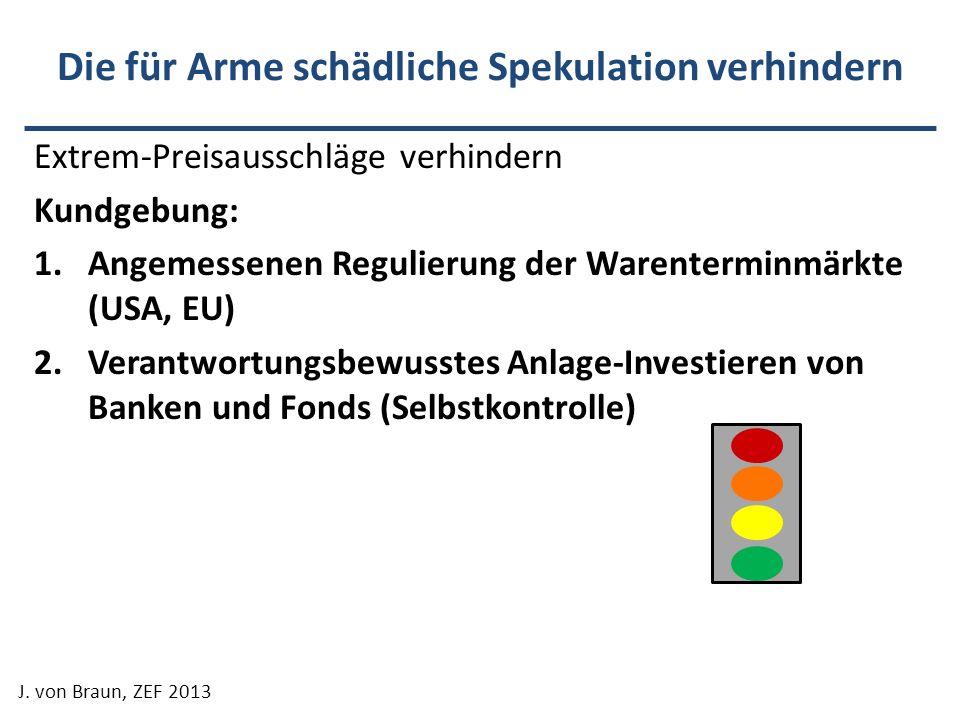 Die für Arme schädliche Spekulation verhindern Extrem-Preisausschläge verhindern Kundgebung: 1.Angemessenen Regulierung der Warenterminmärkte (USA, EU