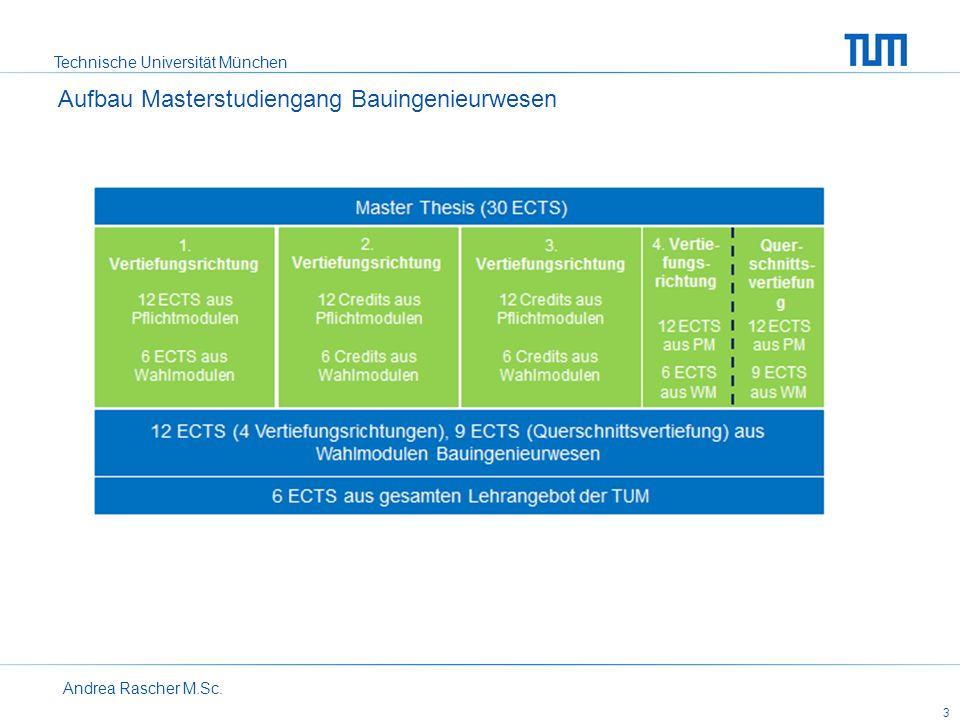Technische Universität München Andrea Rascher M.Sc. 3 Aufbau Masterstudiengang Bauingenieurwesen