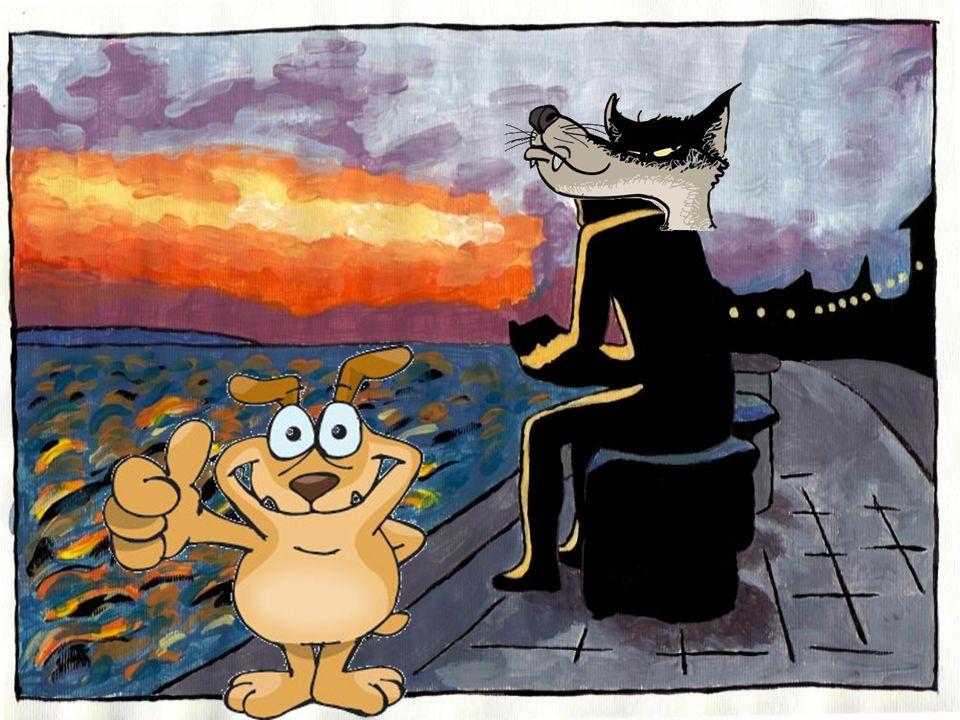 Wir beginnen mit einer Geschichte. Ihr bekommt jetzt von eurer Lehrerin die Geschichte vom Wolf und vom Hund. Wenn ihr sie gelesen habt, sehen wir uns