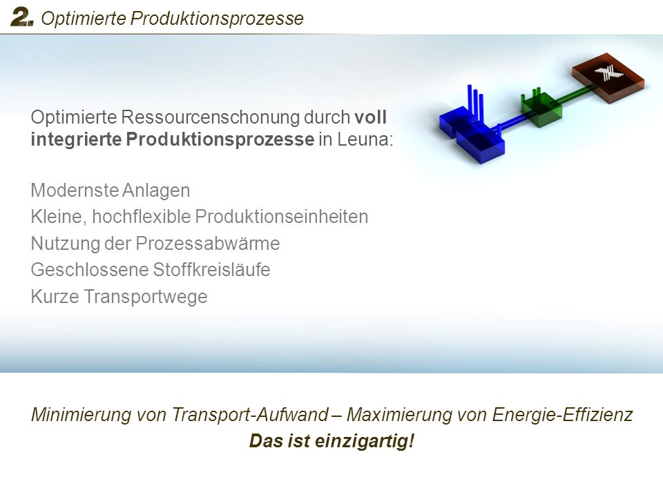 Minimierung von Transport-Aufwand – Maximierung von Energie-Effizienz Das ist einzigartig! Optimierte Ressourcenschonung durch voll integrierte Produk
