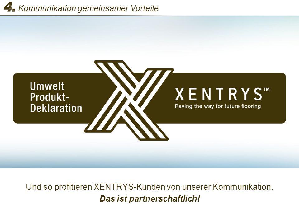 Und so profitieren XENTRYS-Kunden von unserer Kommunikation. Das ist partnerschaftlich! Kommunikation gemeinsamer Vorteile