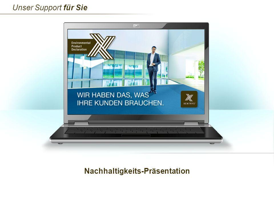 Nachhaltigkeits-Präsentation Unser Support für Sie