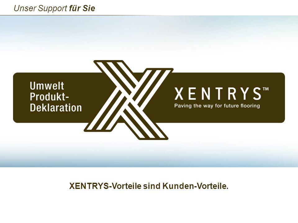 XENTRYS-Vorteile sind Kunden-Vorteile. Unser Support für Sie