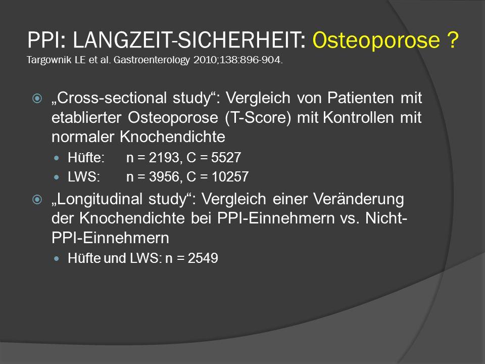 PPI: LANGZEIT-SICHERHEIT: Osteoporose .Targownik LE et al.