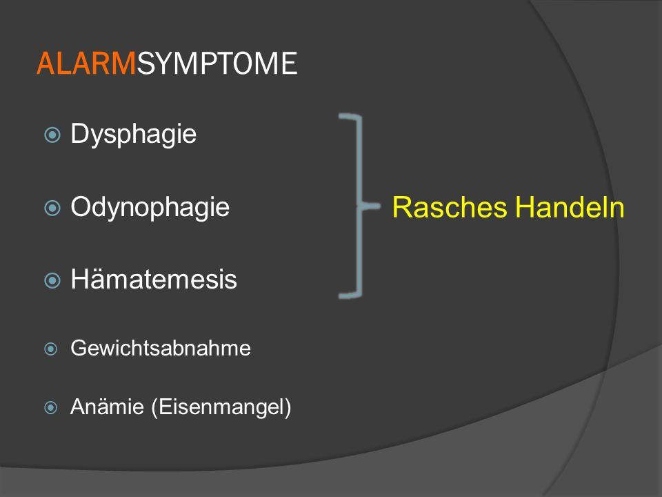 RICHTLINIEN FÜR DIAGNOSTIK DER GERD z.B.: Katz PO et al (Am College of GE): Am J Gastroenterol 2013 Typ.