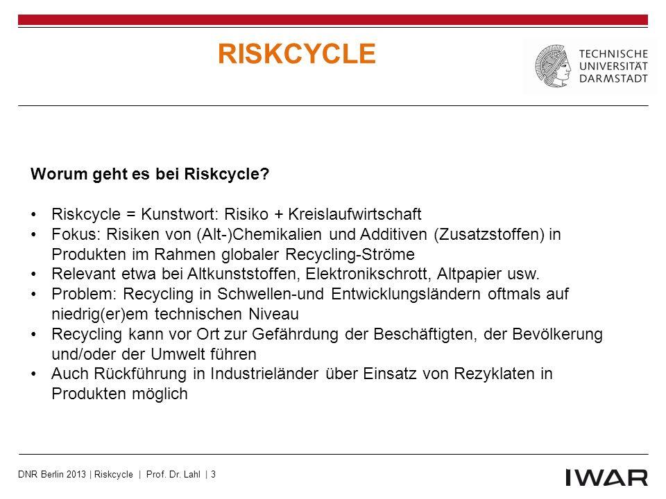 Lösung Europäische Ökodesign-Richtlinie Europäische Abfallgesetzgebung Europäisches Umweltzeichen (Ecolabel) REACH – die europäische Chemikalienverordnung DNR Berlin 2013 | Riskcycle | Prof.