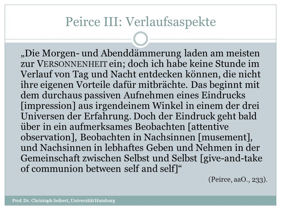 Peirce IV: Theologische Pointe Prof.Dr.