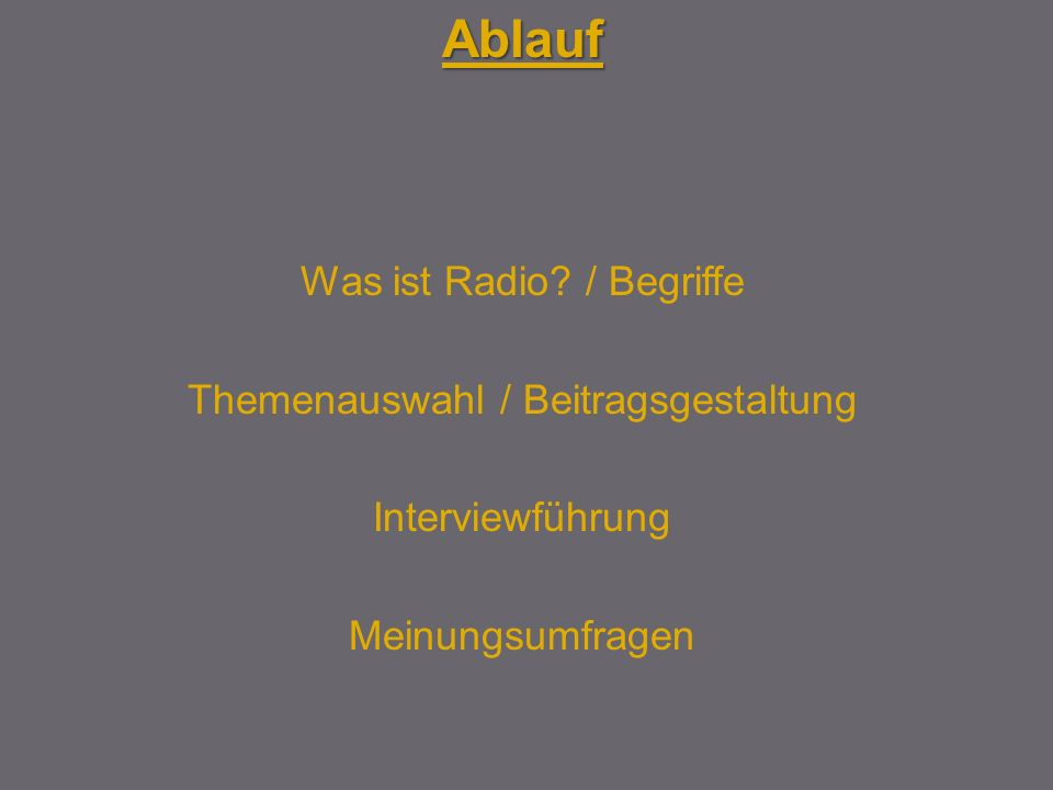 Was ist Radio.
