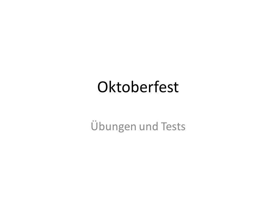 Oktoberfest Übungen und Tests