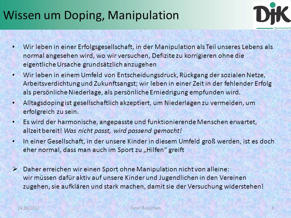 Was ist Doping.