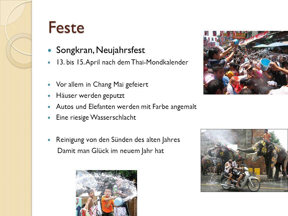 Feste Songkran, Neujahrsfest 13. bis 15.