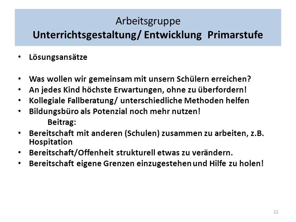 Arbeitsgruppe Wie muss Unterricht gestaltet/entwickelt werden für alle Kinder aus Mülheim.