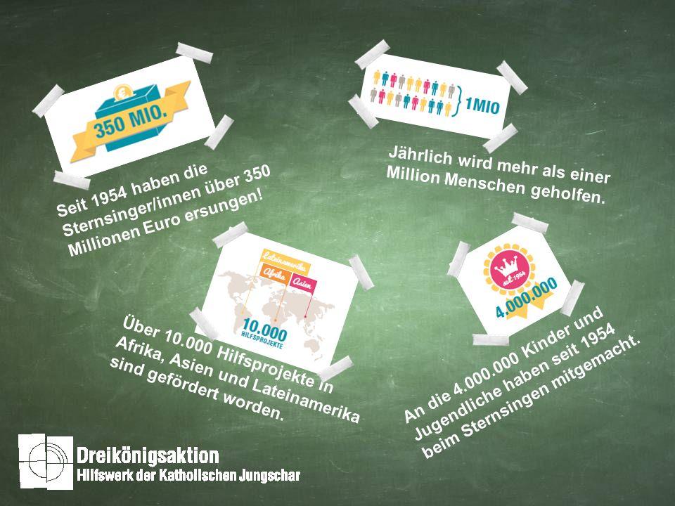 Seit 1954 haben die Sternsinger/innen über 350 Millionen Euro ersungen.
