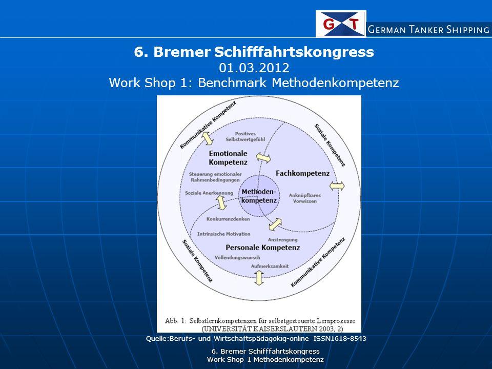 6. Bremer Schifffahrtskongress Work Shop 1 Methodenkompetenz 6.