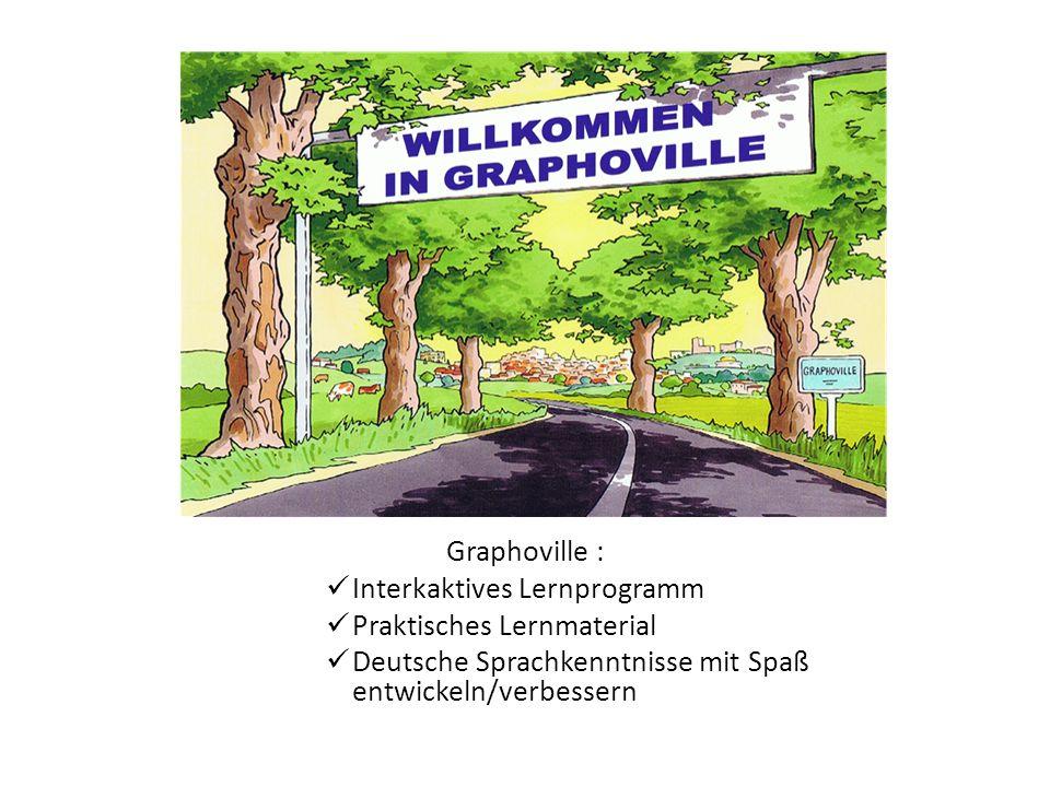 Graphoville : Interkaktives Lernprogramm Praktisches Lernmaterial Deutsche Sprachkenntnisse mit Spaß entwickeln/verbessern