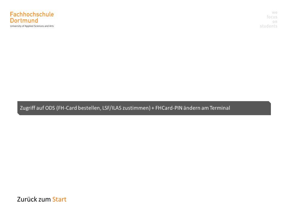 Online Dienste für Studierende ODS (1) Um auf das ODS zugreifen zu können gehen Sie auf folgende Internetadresse: http://ods.fh-dortmund.de Melden Sie sich nun mit Ihrer FH-Kennung oder Matrikelnummer und dem dazugehörigen Passwort an.