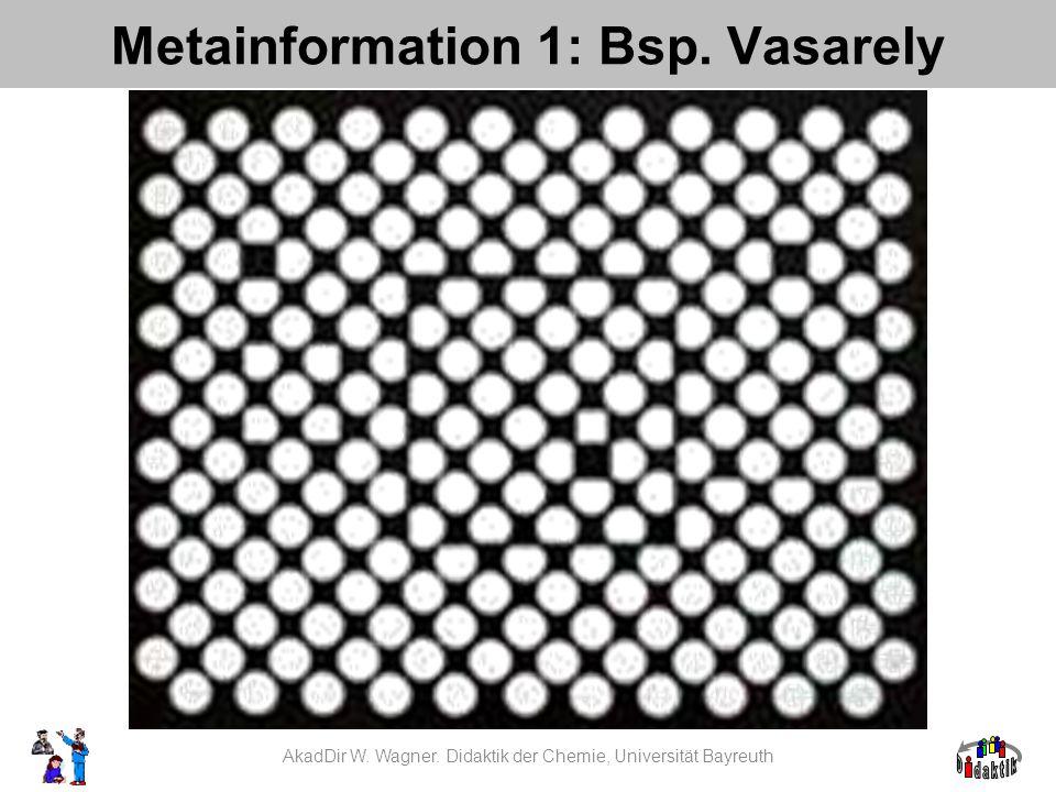 Metainformation 1: Bsp. Vasarely AkadDir W. Wagner. Didaktik der Chemie, Universität Bayreuth