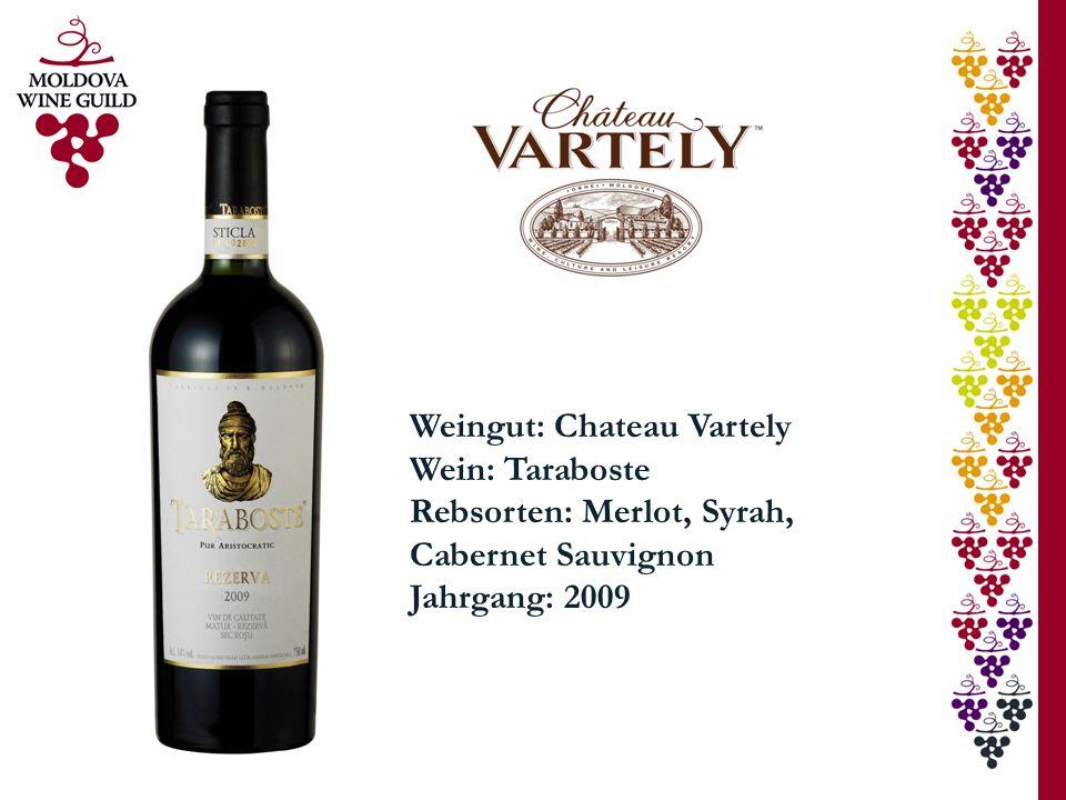 Weingut: Chateau Vartely Wein: Taraboste Rebsorten: Merlot, Syrah, Cabernet Sauvignon Jahrgang: 2009