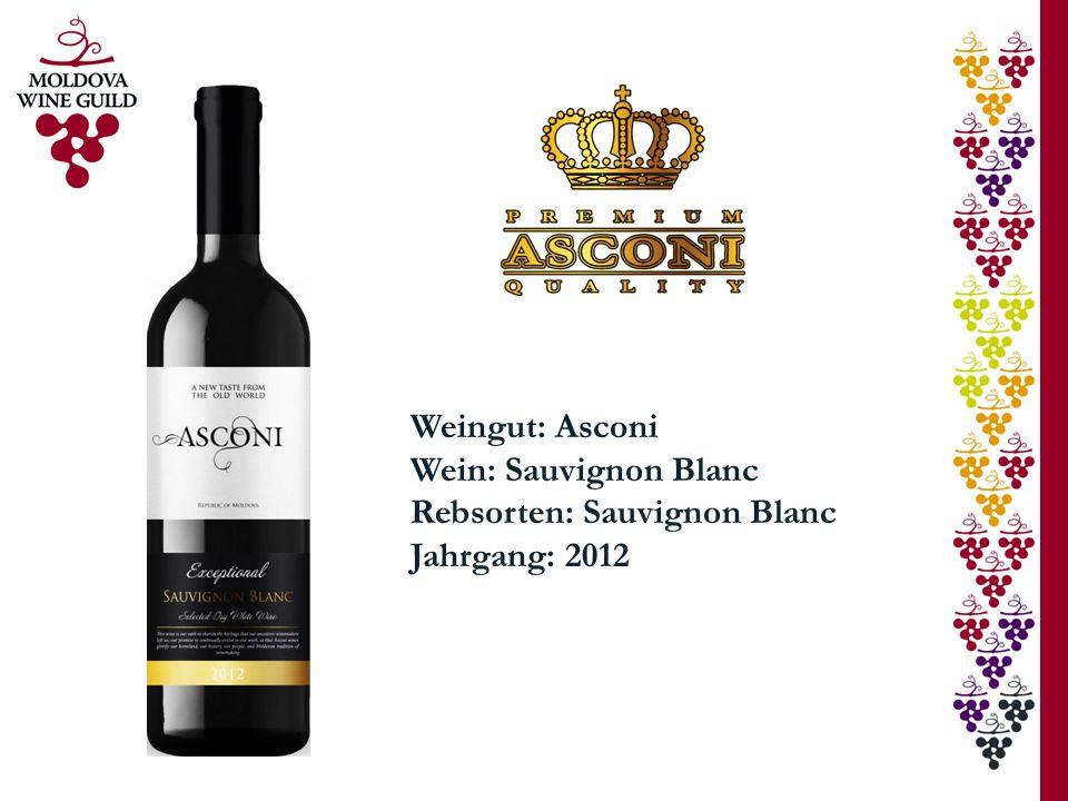 Weingut: Asconi Wein: Sauvignon Blanc Rebsorten: Sauvignon Blanc Jahrgang: 2012