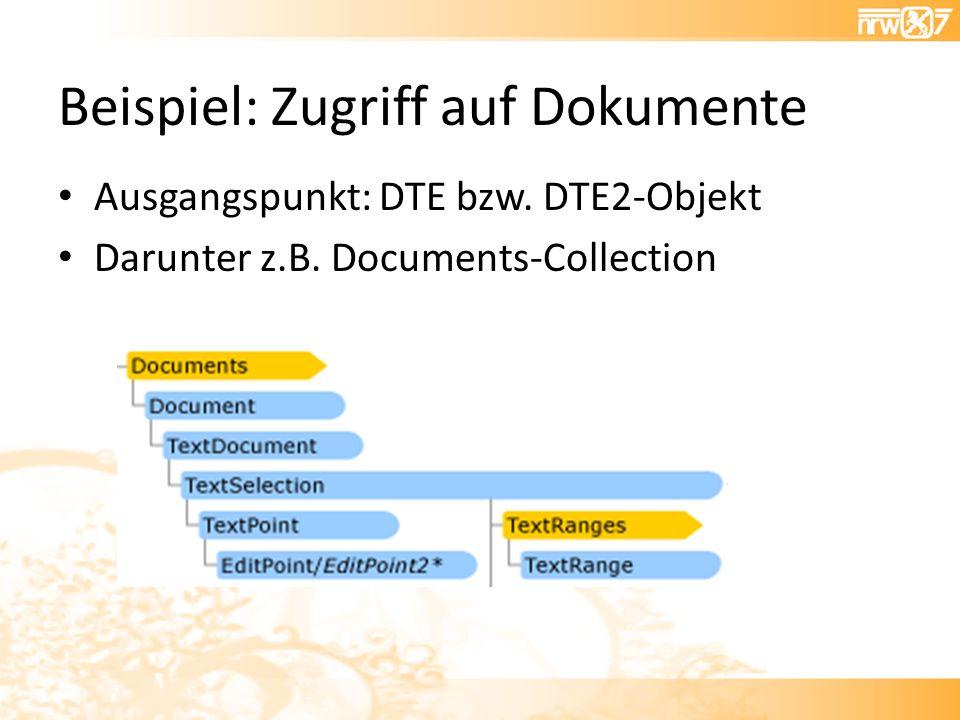 Beispiel: Zugriff auf Dokumente