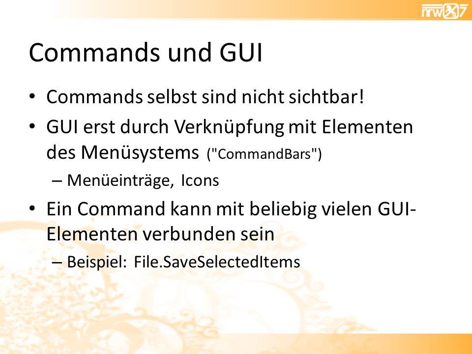 Commands und GUI