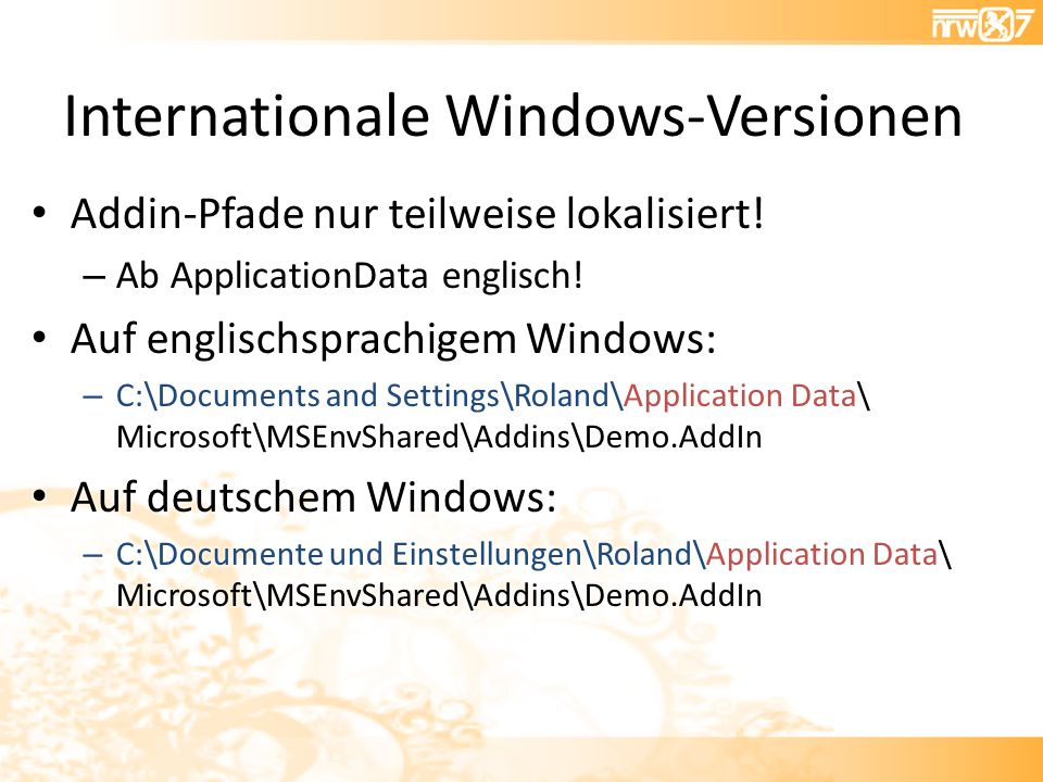 Internationale Windows-Versionen