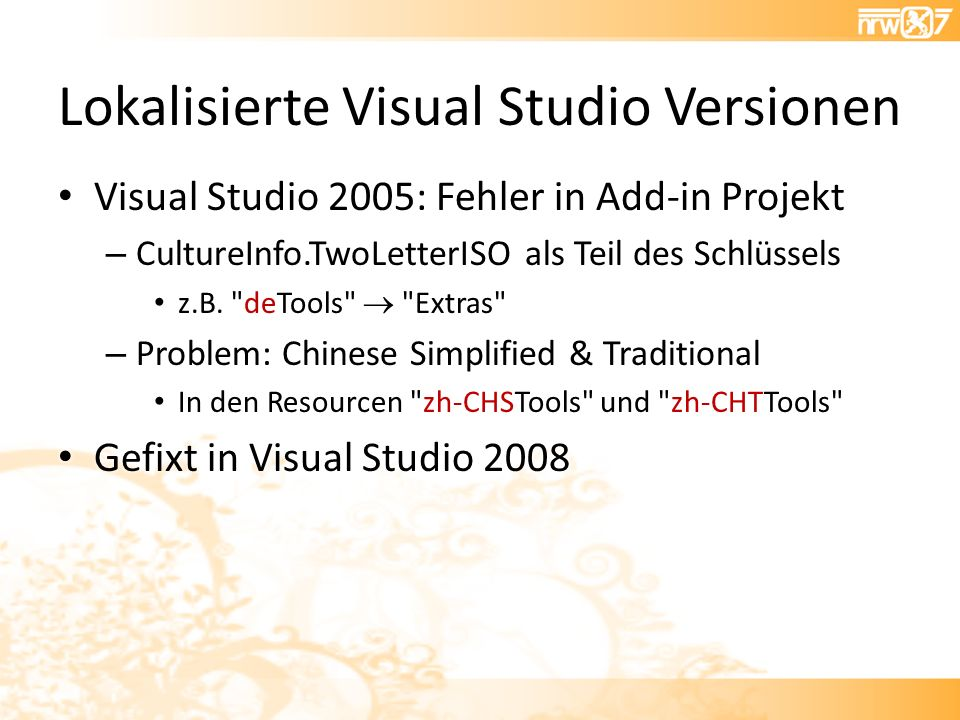 Lokalisierte Visual Studio Versionen