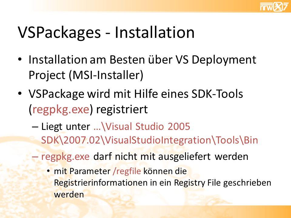 VSPackages - Installation