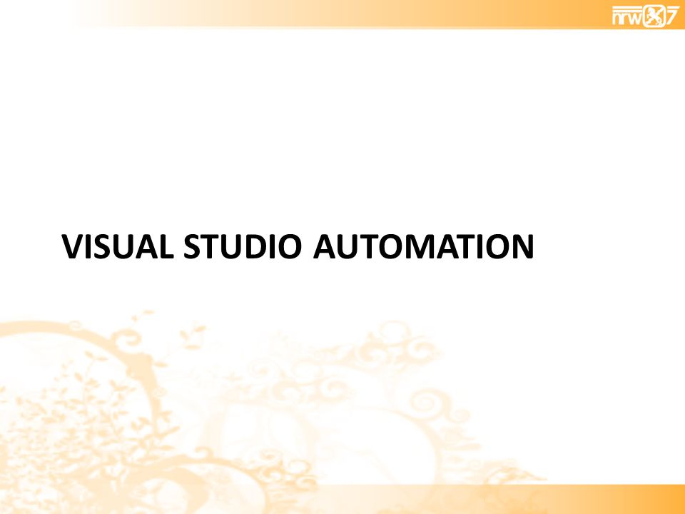 VISUAL STUDIO AUTOMATION