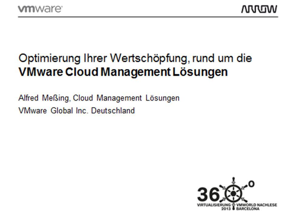 22 Cloud Management Cloud Infrastructure vCloud Suite 5.5: wie sieht das nun aus.