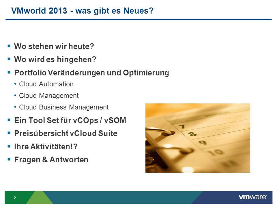 2 VMworld 2013 - was gibt es Neues.Wo stehen wir heute.