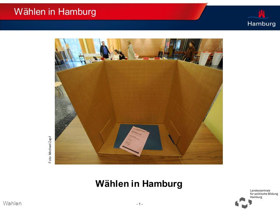 Absender Wählen in Hamburg Thema TT.MM.JJJJ Wählen in Hamburg Wahlen - 1 - Foto: Michael Zapf