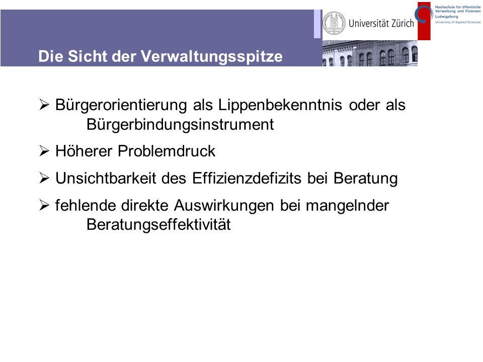 Organisation der Bürgerberatung Back-Office vs.