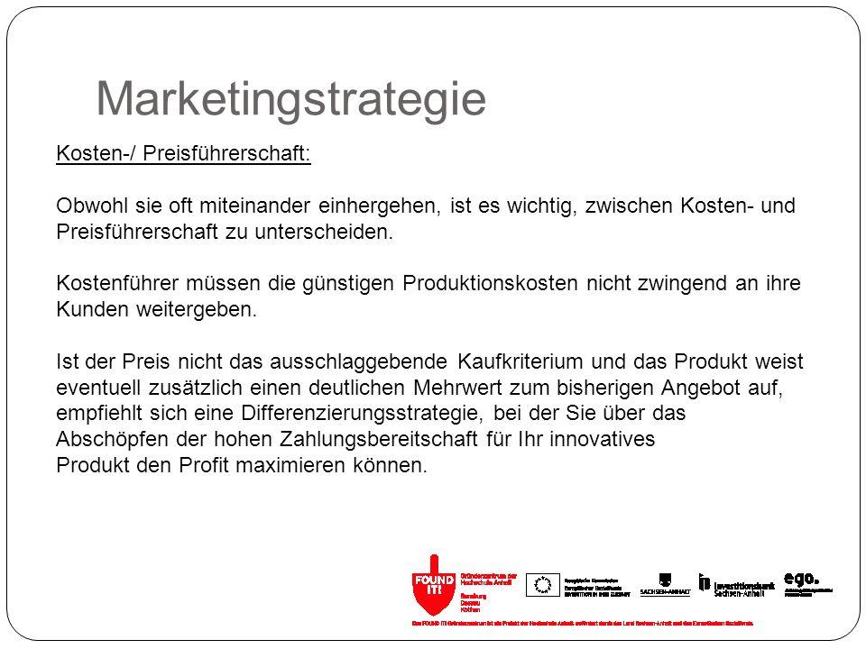 Marketingstrategie Kosten-/ Preisführerschaft: Obwohl sie oft miteinander einhergehen, ist es wichtig, zwischen Kosten- und Preisführerschaft zu unter