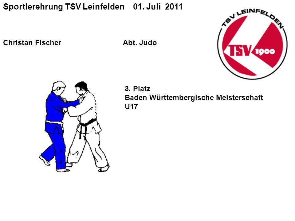 Sportlerehrung TSV Leinfelden 01.Juli 2011 Christan Fischer Abt.