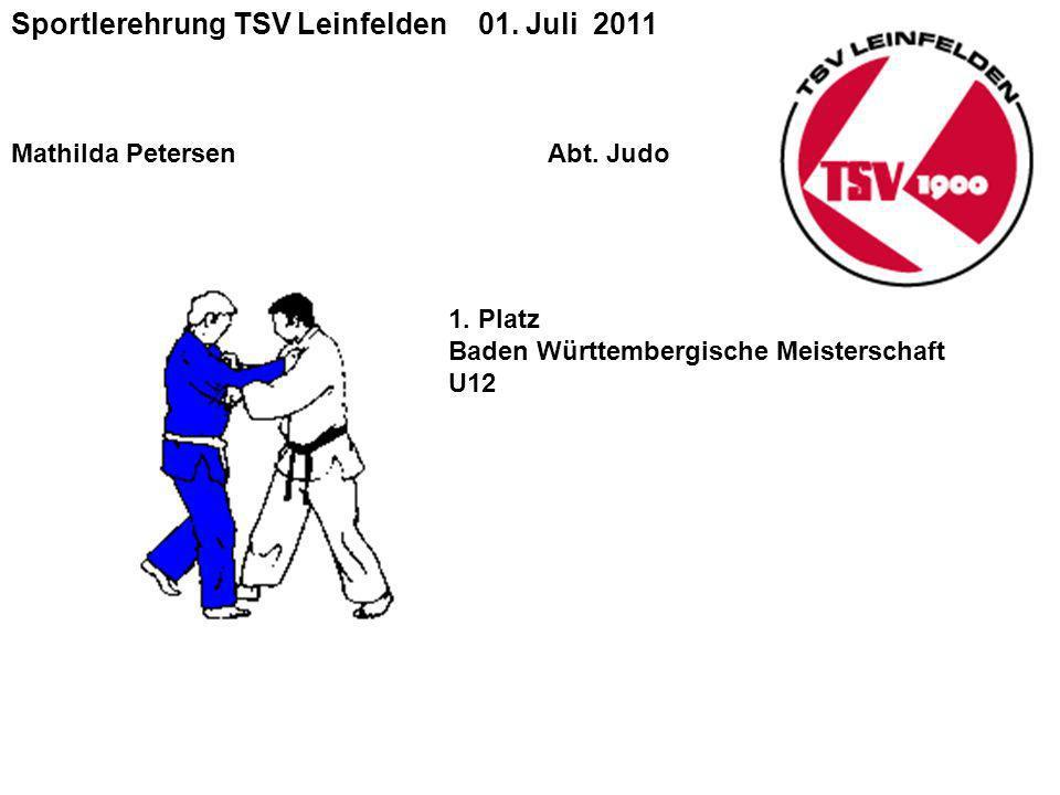 Sportlerehrung TSV Leinfelden 01.Juli 2011 Mathilda Petersen Abt.