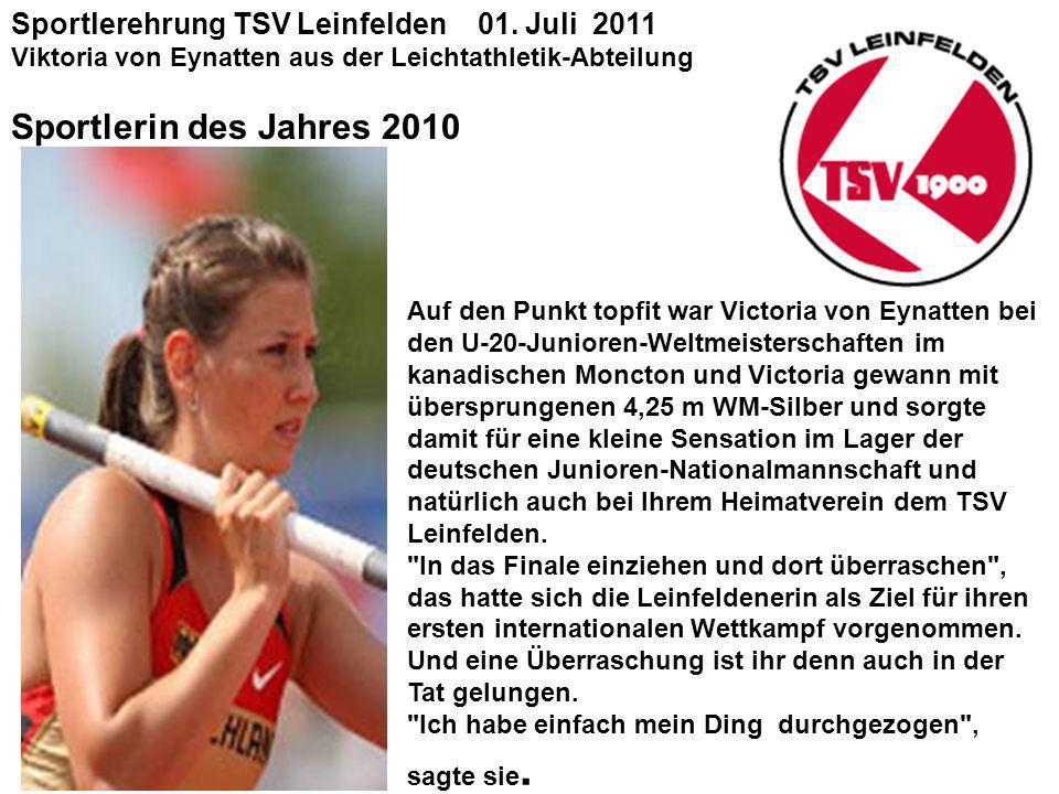 Sportlerehrung TSV Leinfelden 01.