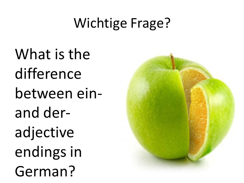 Wichtige Frage? What is the difference between ein- and der- adjective endings in German?