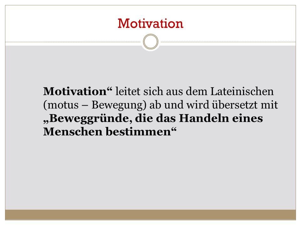 4 Motivation ist eine aktivierende Ausrichtung des momentanen Lebensvollzugs auf einen positiv bewerteten Zielzustand (Rheinberg, 1995, 13).