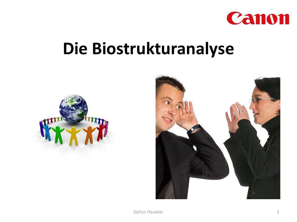 Die Biostrukturanalyse 1Stefan Haueter