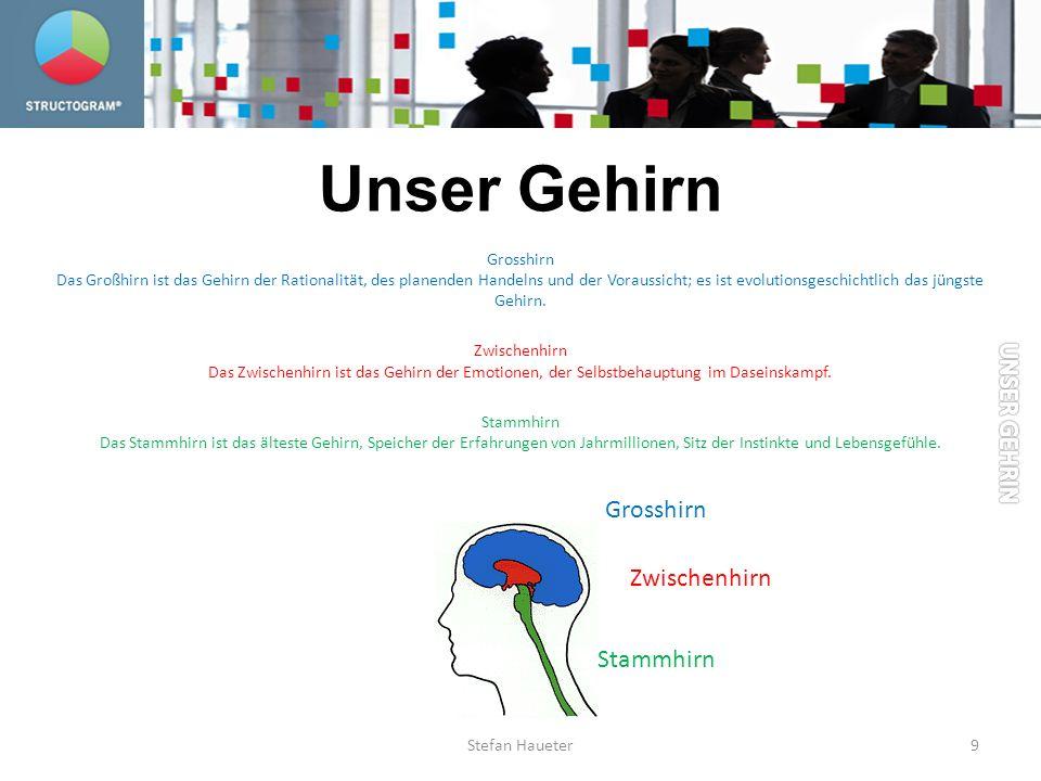 Unser Gehirn Grosshirn Das Großhirn ist das Gehirn der Rationalität, des planenden Handelns und der Voraussicht; es ist evolutionsgeschichtlich das jü