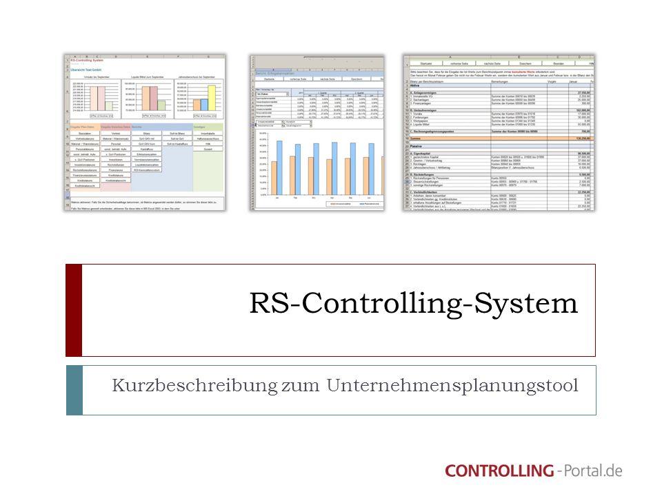 RS-Controlling-System Kurzbeschreibung zum Unternehmensplanungstool