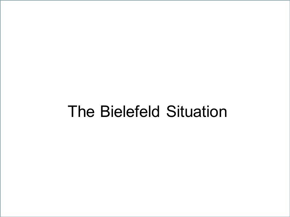 11 Geistes-, Natur-, Sozial- und Technikwissenschaften – gemeinsam unter einem Dach The Bielefeld Situation