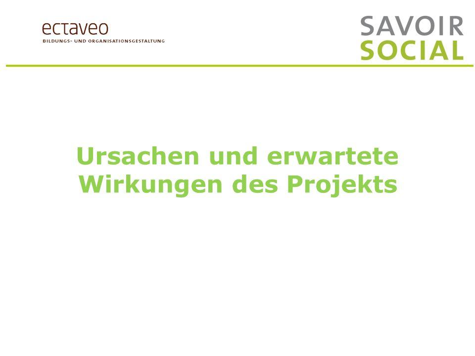 Ursachen und Wirkungen des Projekts Diskussion in 5 moderierten Gruppen: Ausgangslage Wie schätzen Sie die Ausgangssituation für das Projekt «Analyse des Revisionsbedarfs Fachfrau / Fachmann Betreuung « ein.