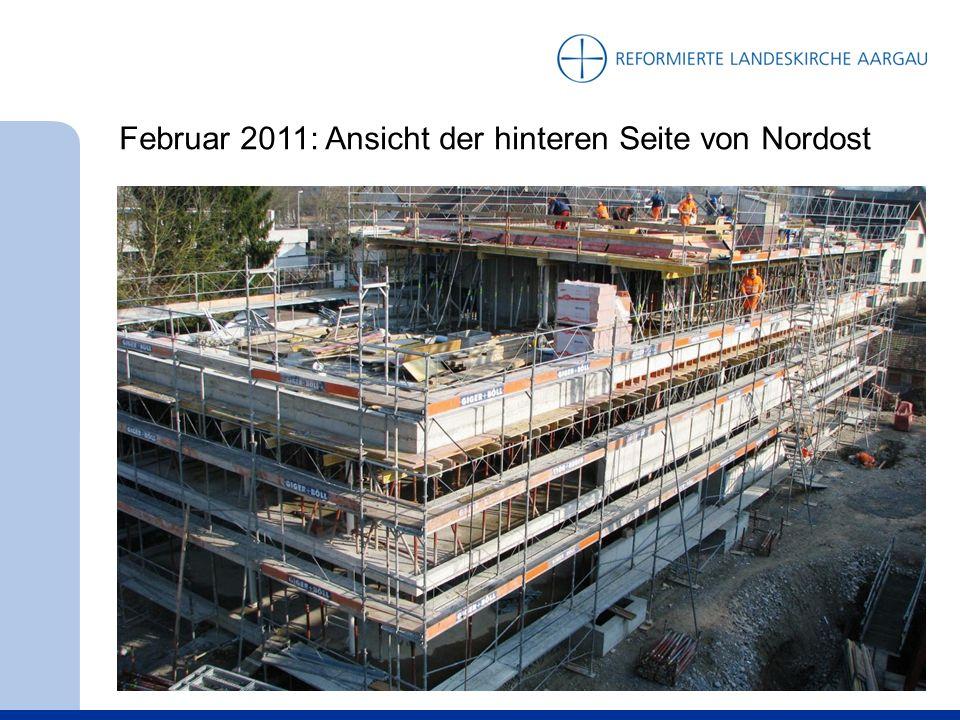 Februar 2011: Ansicht der hinteren Seite von Nordost