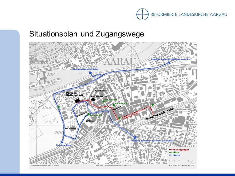 Situationsplan und Zugangswege