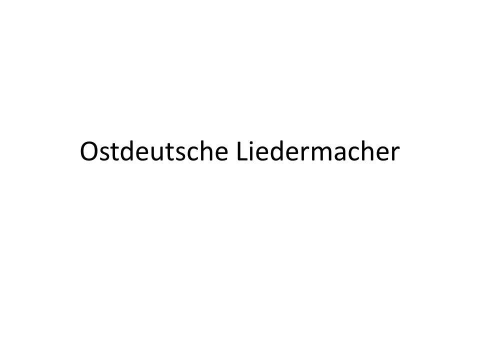 Gliederung 1.Zum Begriff Liedermacher 2.Liedermacher in der DDR 3.Gerhard Schöne: Unterm Dach 4.Herman van Veen: Ich hab ein zärtliches Gefühl 5.Hans-Eckardt Wenzel: Tausend Tode